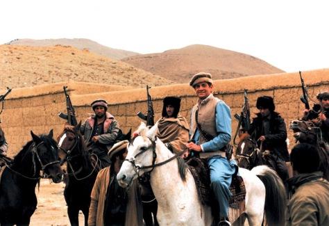 Charlie Wilson en compagnie de moudjahidines en Afghanistan