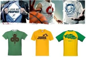 Quelques t-shirts que l\'on peut retrouver sur le site Styleislam.com