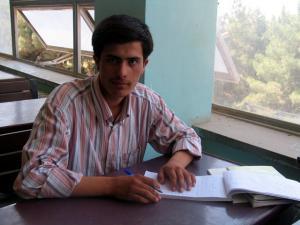 Photo du journaliste afghan Perwiz Kambakhsh condamné à mort pour avoir critiqué l\'islam